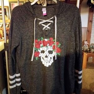 Rose Skull No Boundaries Hoodie